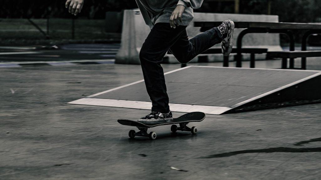 skateboard ramps with skater